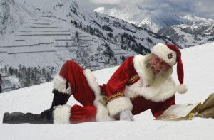 Der Weihnachtsmann im Schnee...