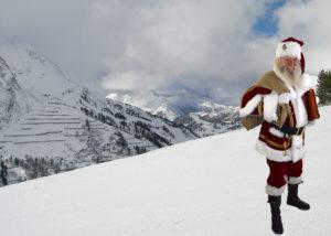 Der Weihnachtsmann in den Bergen...