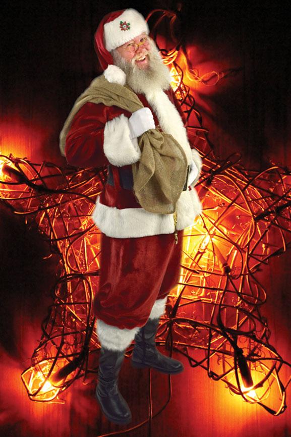 Weihnachtsmann Celle mit Stern