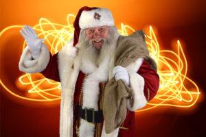 Der Weihnachtsmann im neuen Kostüm...