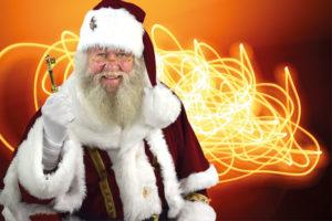 Der Weihnachtsmann aus Celle in seinem neuen Kostüm...