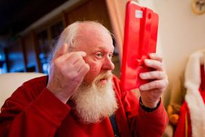 Hier die Verwandlung vom Willi bis zum Weihnachtsmann...